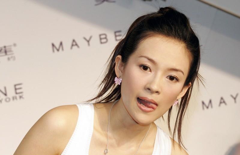 Zhang Ziyi Tongue