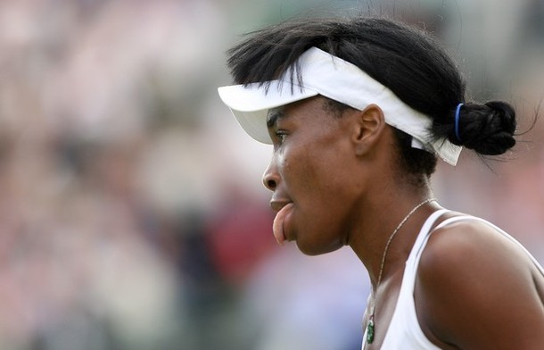 Venus Williams Tongue