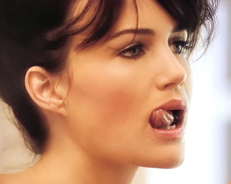 Carla Gugino Tongue