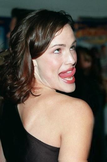 Jennifer Garner Tongue