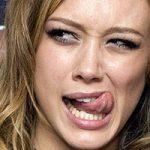 Hilary Duff Tongue
