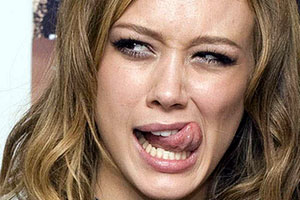 Hilary Duff Tongue