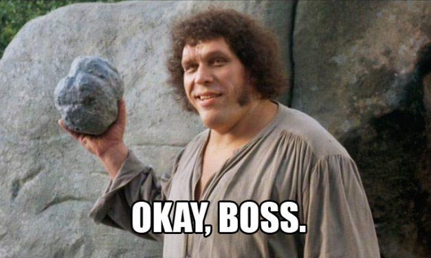 """""""As You Wish, Boss."""""""