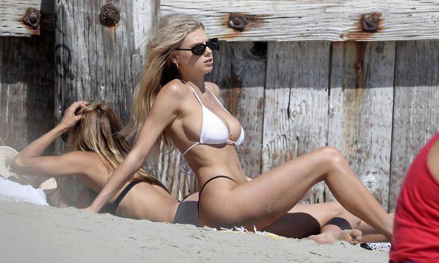 Charlotte McKinney wore a bikini and a hat!