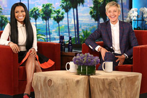 I love Nicki Minaj and Ellen and now I have them both.