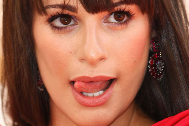 Lea Michele Tongue