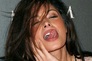 Sarah Shahi Tongue