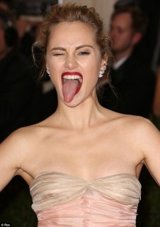 Suki Waterhouse Tongue